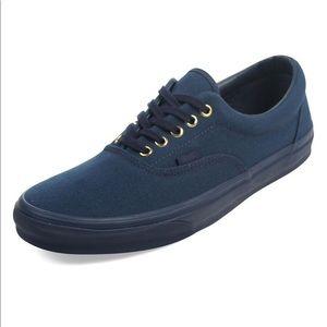 Vans Era Shoes with gold Dress Navy Blue